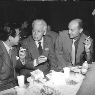 MIchio Ito with Isamu Noguchi