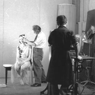 Michio Ito Fixing Hair of Dancer