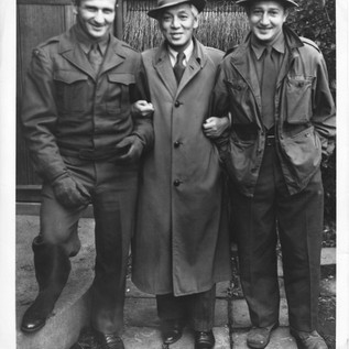 Michio Ito with Soldiers