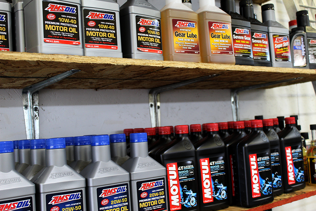 J&B Cycles stocks Amsoil