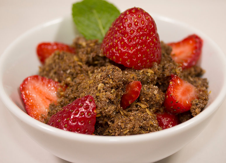 Humble Cocoa Crumble, Bssert, Rochelle Schmidt, Gluten Free, Healthy Eating