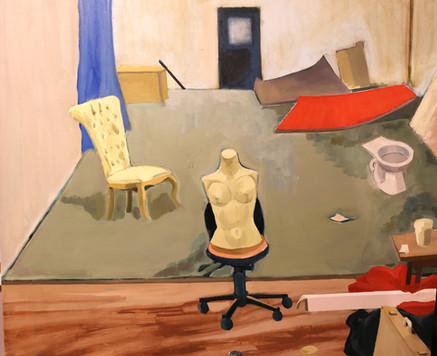 The Studio (2020). Acrylic and oil on canvas. 104x84cm