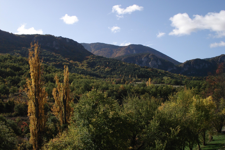 Les Alpes vue de la terrasse collines
