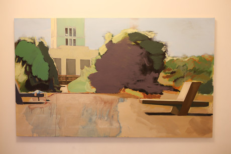 Lying in wait. (2020). Acrylic and oil on canvas. 152x94cm.