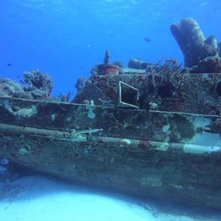 Shipwreck in Cozumel