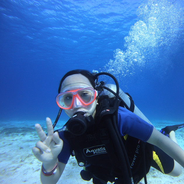 Diving in Cozumel. The visibility  was amazing