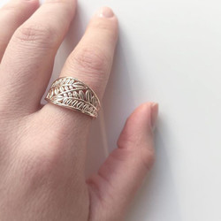 A beautiful rose gold vine ring inspired by a client's previous costume ring