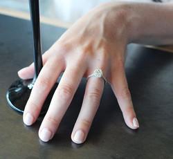 Oval cut halo diamond ring
