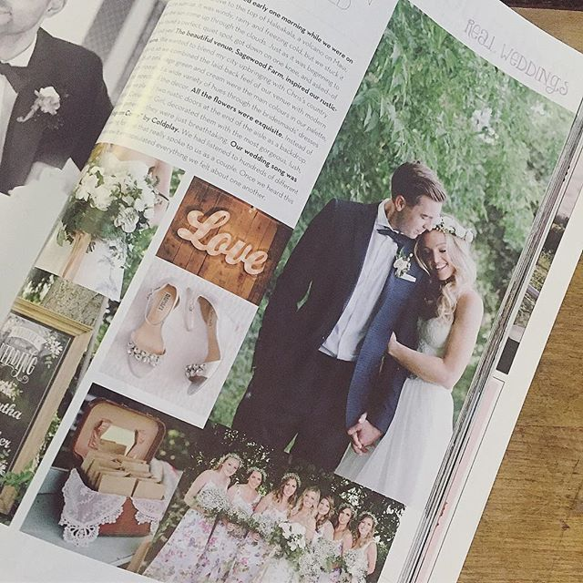 SPOTTED! As I'm browsing through the newest copy of _weddingbellsmag I spy a beautiful Bijoux by Amy