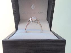 Radiant and trapezoid shape diamonds