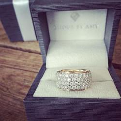 5-row diamond band