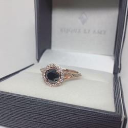 Most unique new combo_ rose gold and black diamond! I love how the warmth of the rose gold contrasts