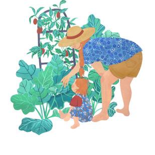 Gardening Mother + Daughter