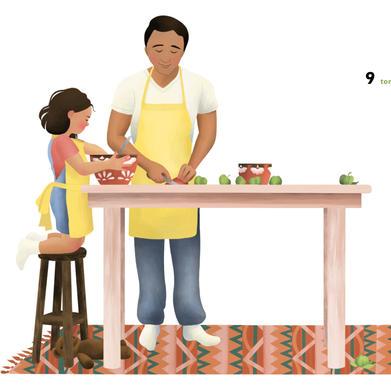 """Illustration from """"¡Cuenta Conmigo!"""""""