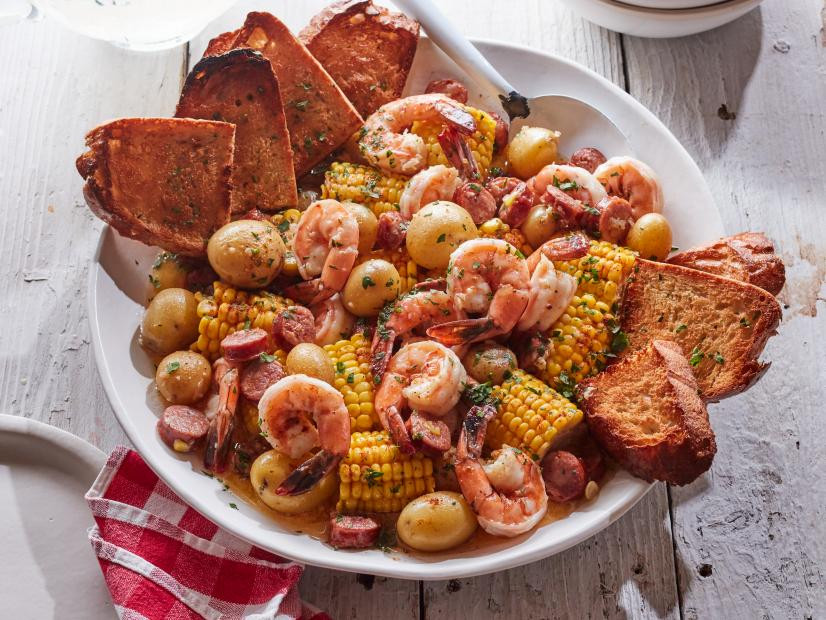 Shrimp and Corn in a Butter Bath