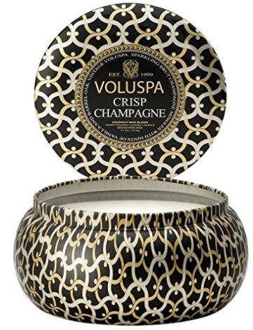 Voluspa Crisp Champagne 2 Wick Tin Candle, 11 Ounces