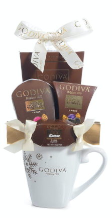Godiva Mug Chocolate Gift Set -2019 Christmas & New Years Holiday Season