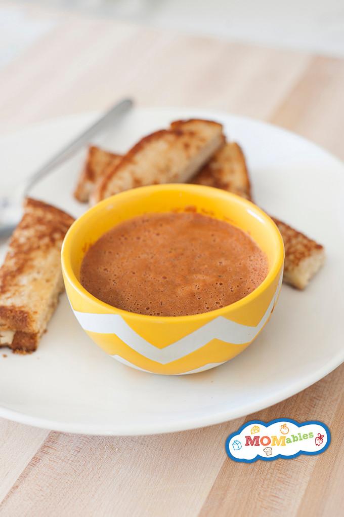Veggie Tomato Soup & Grilled Cheese Sticks
