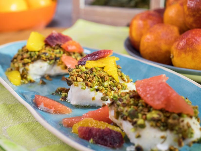 Pistachio-Crusted Cod with Citrus Salsa