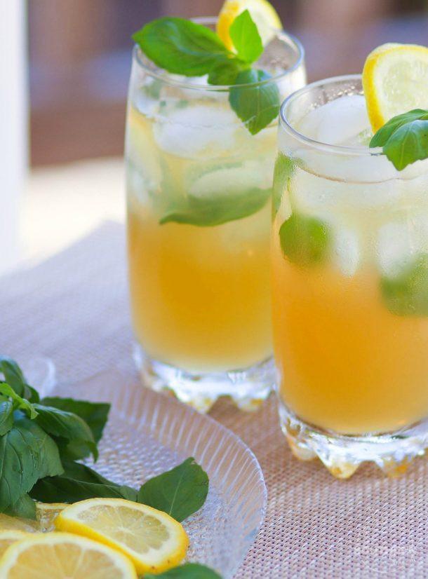Bourbon Basil Lemonade