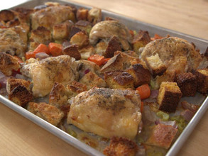 Chicken and Dressing Sheet Pan Supper