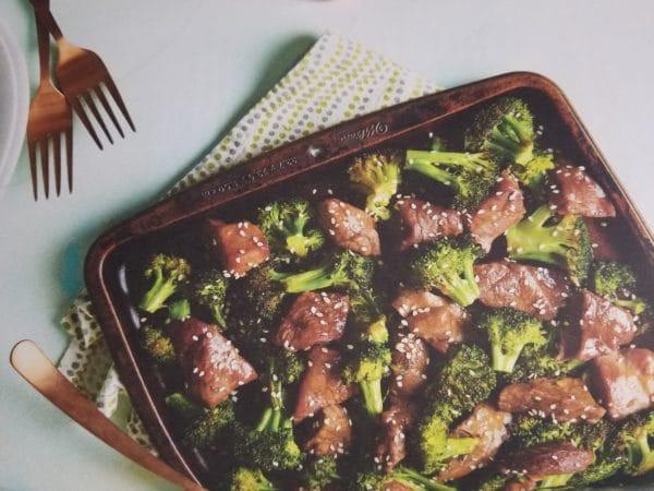 Easy Dinner Recipe of Sheet Pan Steak Tips on The Pickup Line