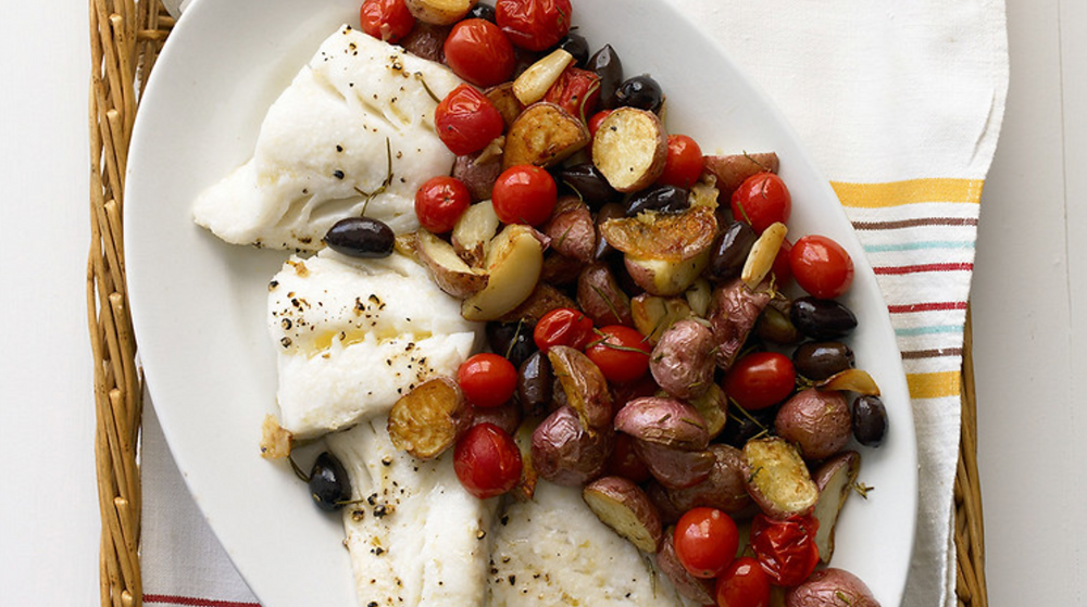 Roasted Cod with Potatoes and Olives - Martha Stewart
