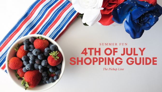 Red, White and Blue Fourth of July Shopping Guide