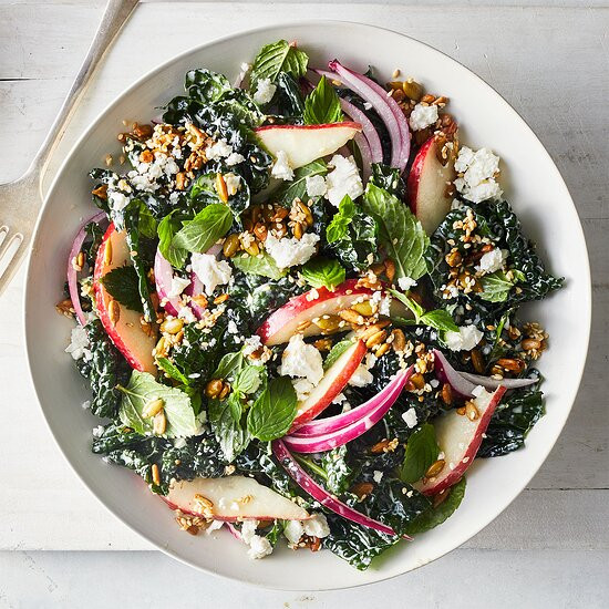 Feta, Kale & Pear Salad Recipe