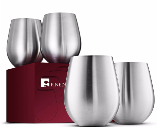 stainless stemless wine glasses