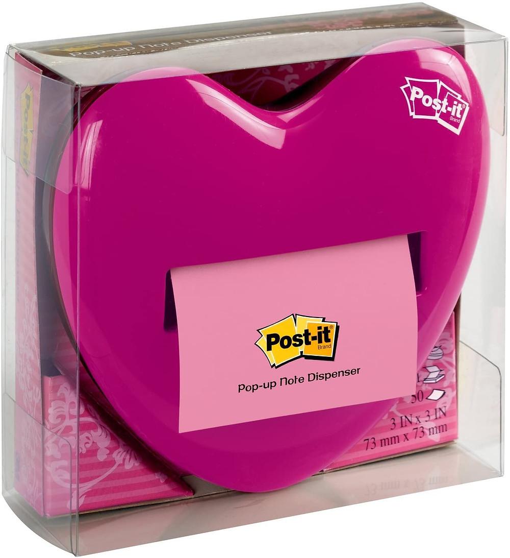 heart post it dispenser