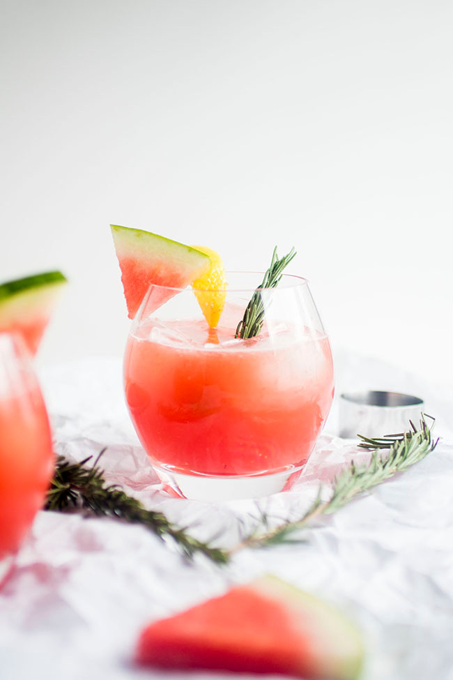 Rosemary Watermelon Cocktail
