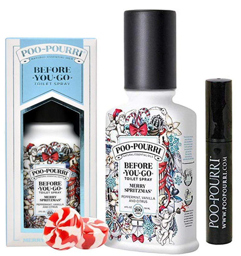 Poo-Pourri 3-piece Bathroom Deodorizer Set Merry Spritzmas