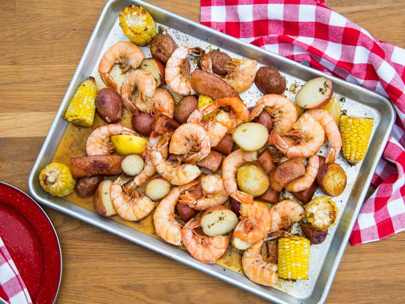 "Sunny's Sheet Pan Shrimp ""Boil"""
