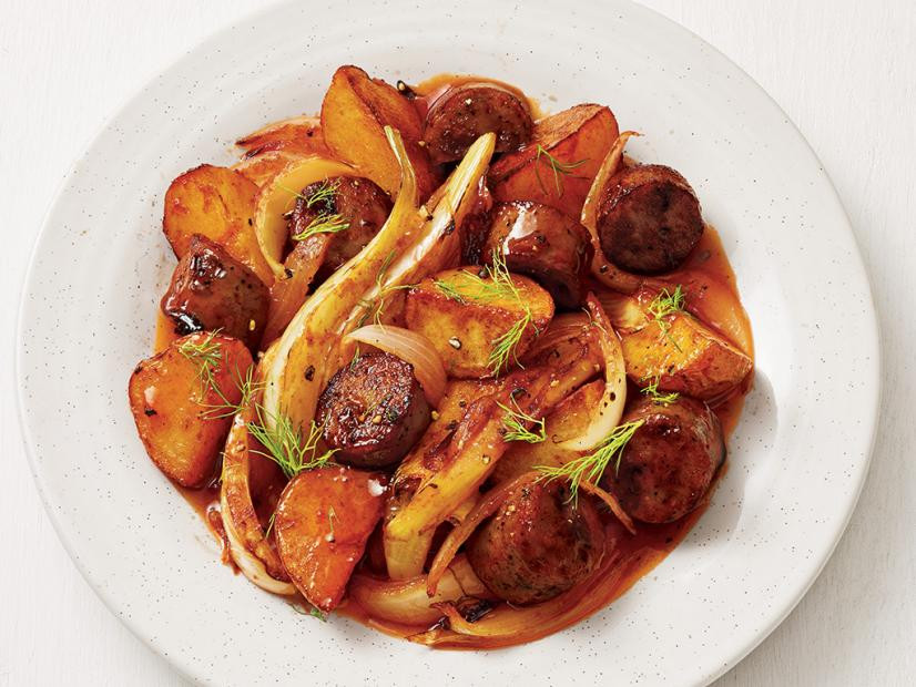 One-Pan Chicken Sausage and Potatoes