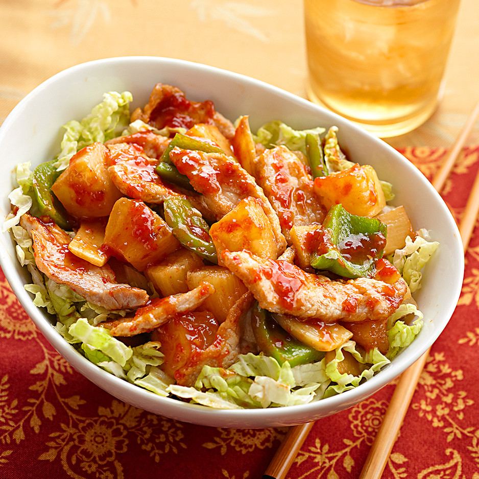Sweet & Sour Pork with Cabbage