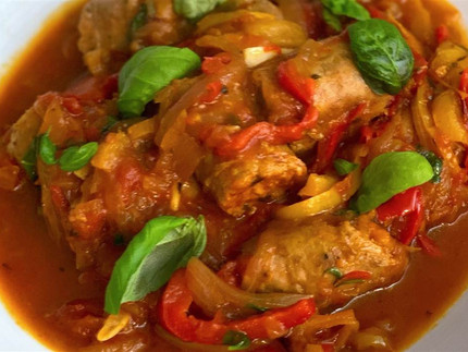 Scott Conant's Mom's Sausage & Peppers
