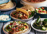 Slow-Cooker Carne Picada Tacos with Avocado Salsa