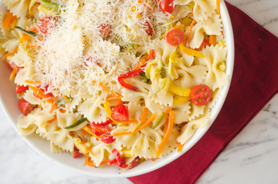 Pasta Primavera with Roasted Vegetables