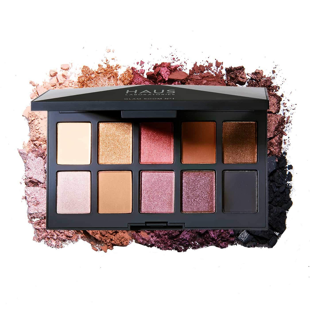 HAUS LABORATORIES By Lady Gaga: FOUR-WAY SHADOW PALETTE | GLAM ROOM PALETTE NO.1: FAME, 4-Shade Shadow Quad in 9 Colors or 10-Shade Eyeshadow Palette with Matte, Metallic, and Shimmer Finishes