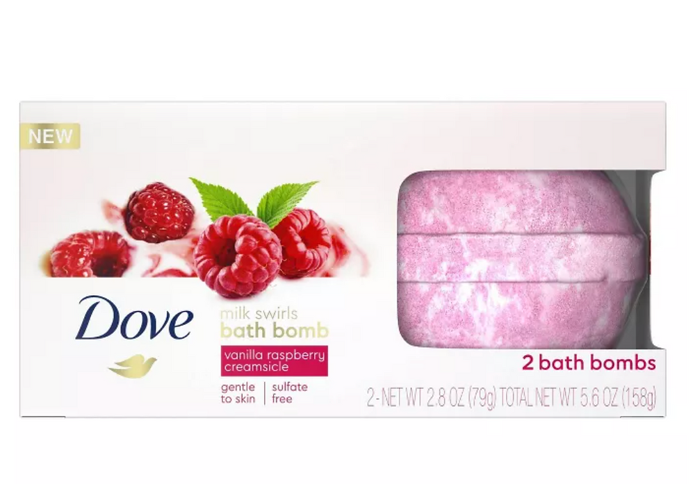 Dove Milk Swirl Bath Bombs