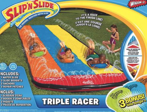 slip 'n slide triple racer