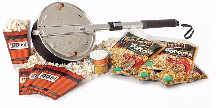 fire pit popcorn set