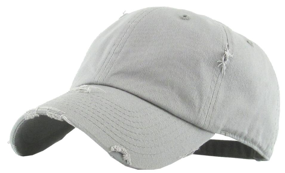 ladies distressed baseball cap
