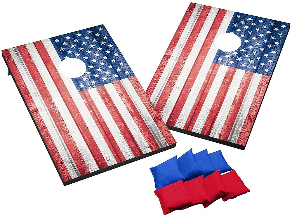 American Flag corn hole