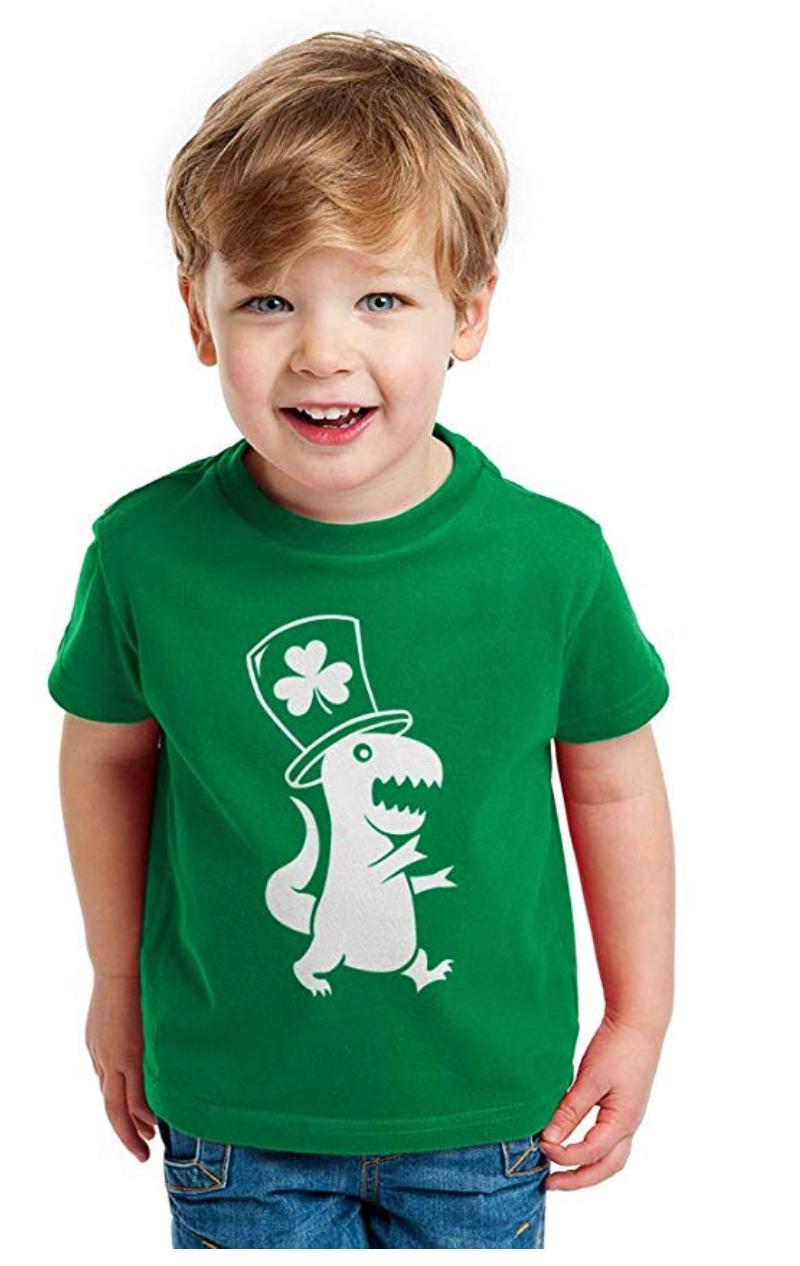 shamrock dinosaur t-shirt