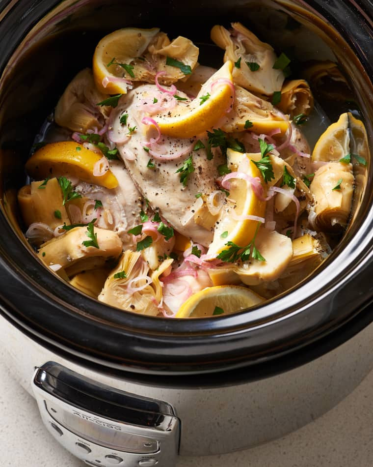 Recipe: Slow Cooker Spinach and Artichoke Chicken