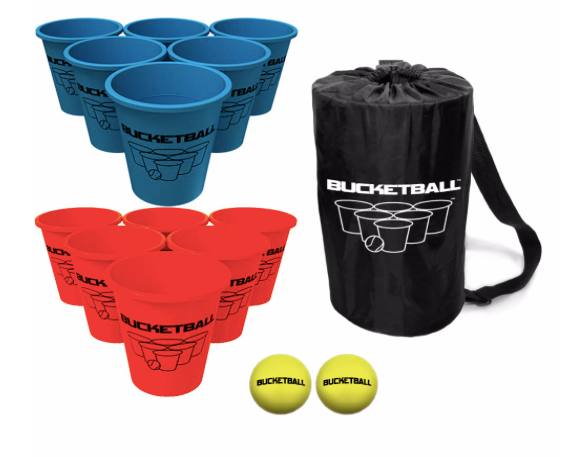 bucketball beach game