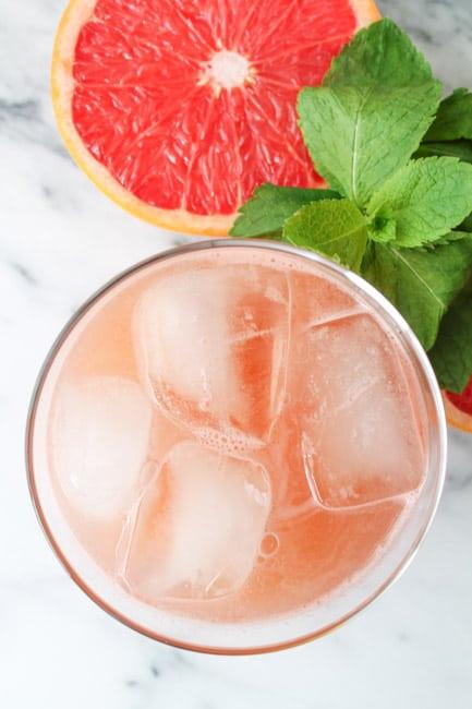 Minted Grapefruit Juice