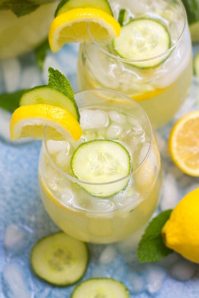 Cucumber Lemonade Vodka Cocktail